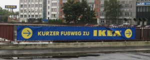 Kurzer Fußweg zu IKEA