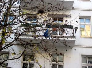 und wie kommt die Tasche in den Baum?
